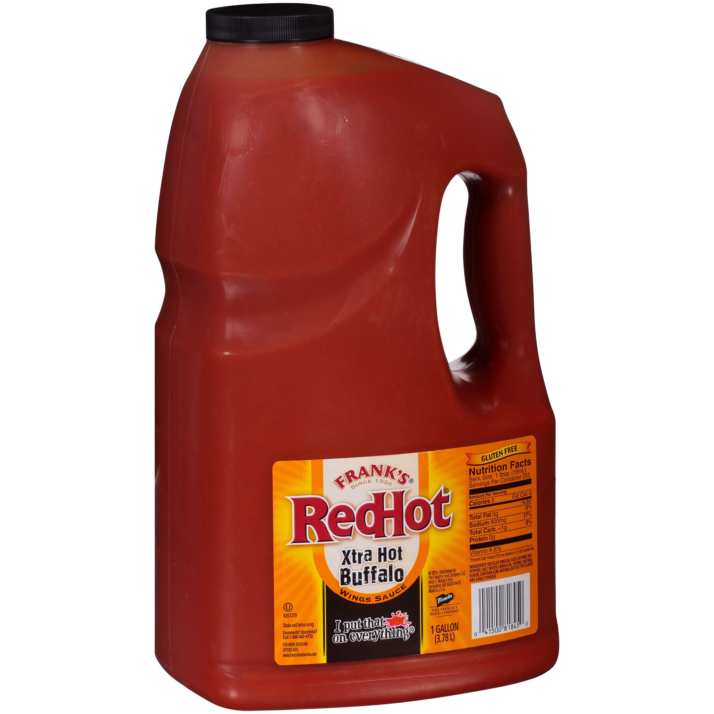 Frank's RedHot Xtra Hot Buffalo Wings Sauce, 1 gal