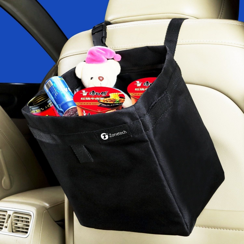 Zone Tech Car Auto Seat Back Organizer Litter Trash Bag Storage Holder Travel