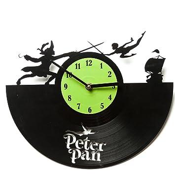 Peter Pan relojes para relojes de cocina - cocina - barato Relojes - Reloj de pared para casa - vinilo reloj Peter Pan - Casa reloj - Peter Pan: Amazon.es: ...