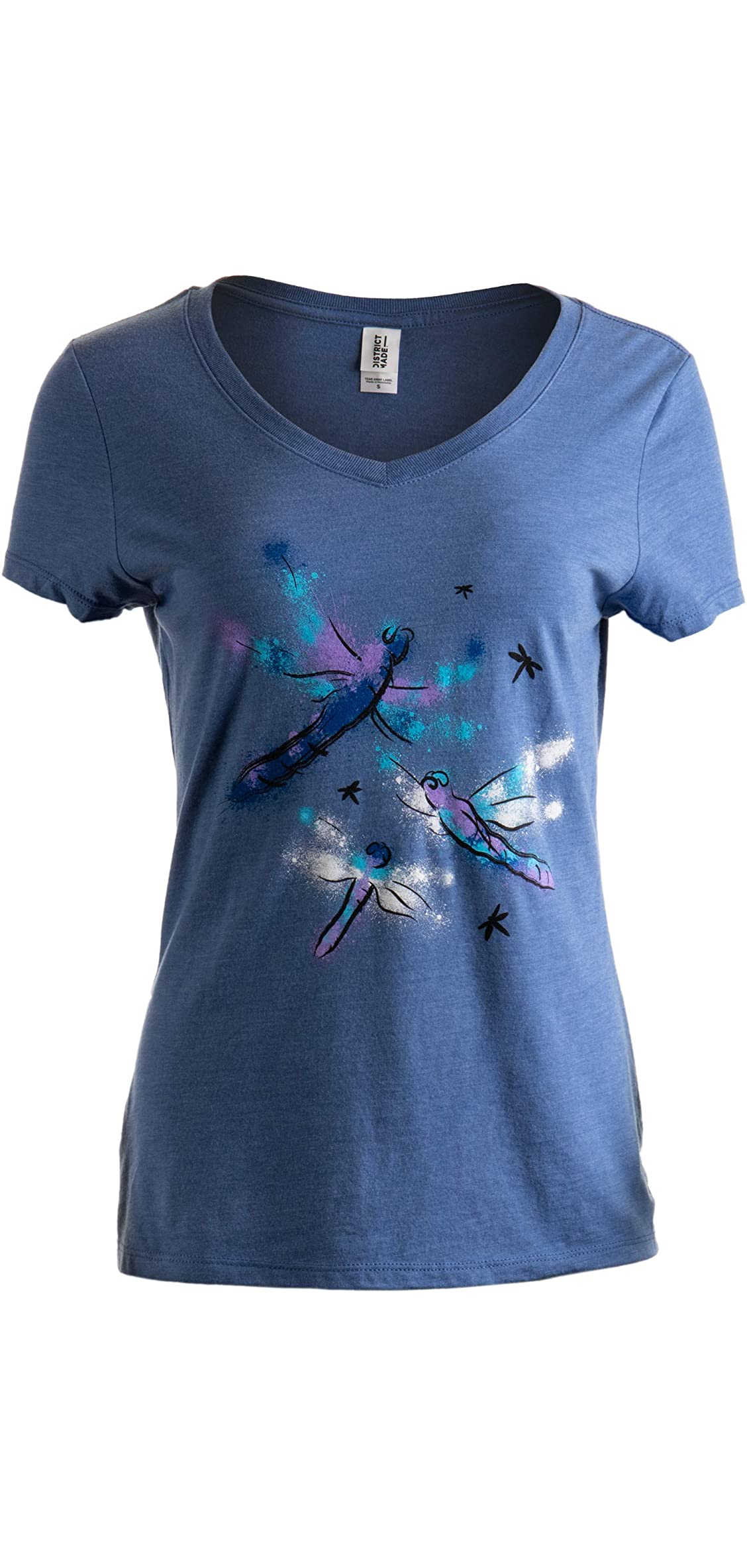 Dragonflies  Dragonfly Nature Art Insect Bug V-neck T-shirt For