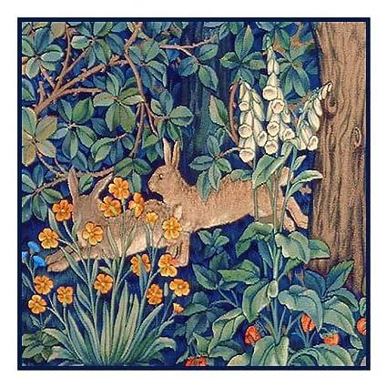 Orenco Originals William Morris Birds Pomegranates Design Counted Cross Stitch Pattern
