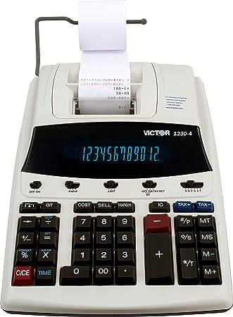 Amazon.com: Victor 1230-4 Calculadora de impresión comercial ...