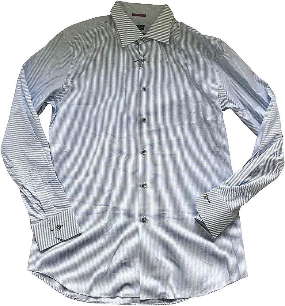 Paul Smith London Individual Puño Formal Manga Larga Slim Fit Camisa: Amazon.es: Ropa y accesorios