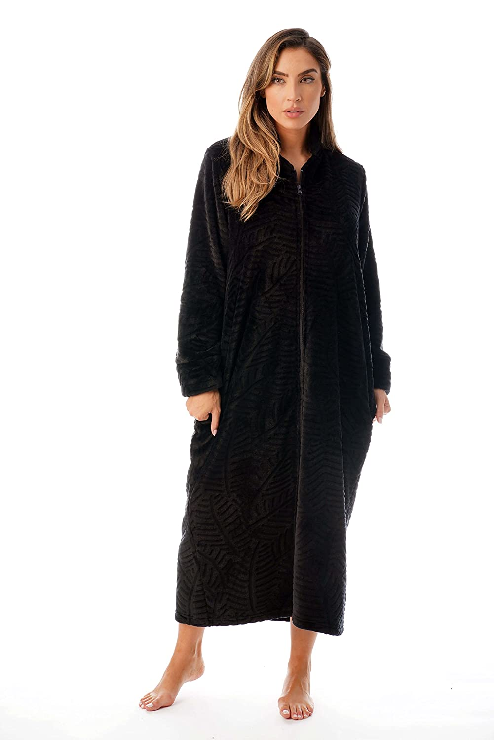 Just Love Plush Zipper Lounger Robe at Amazon Women s Clothing store  e70681ba0