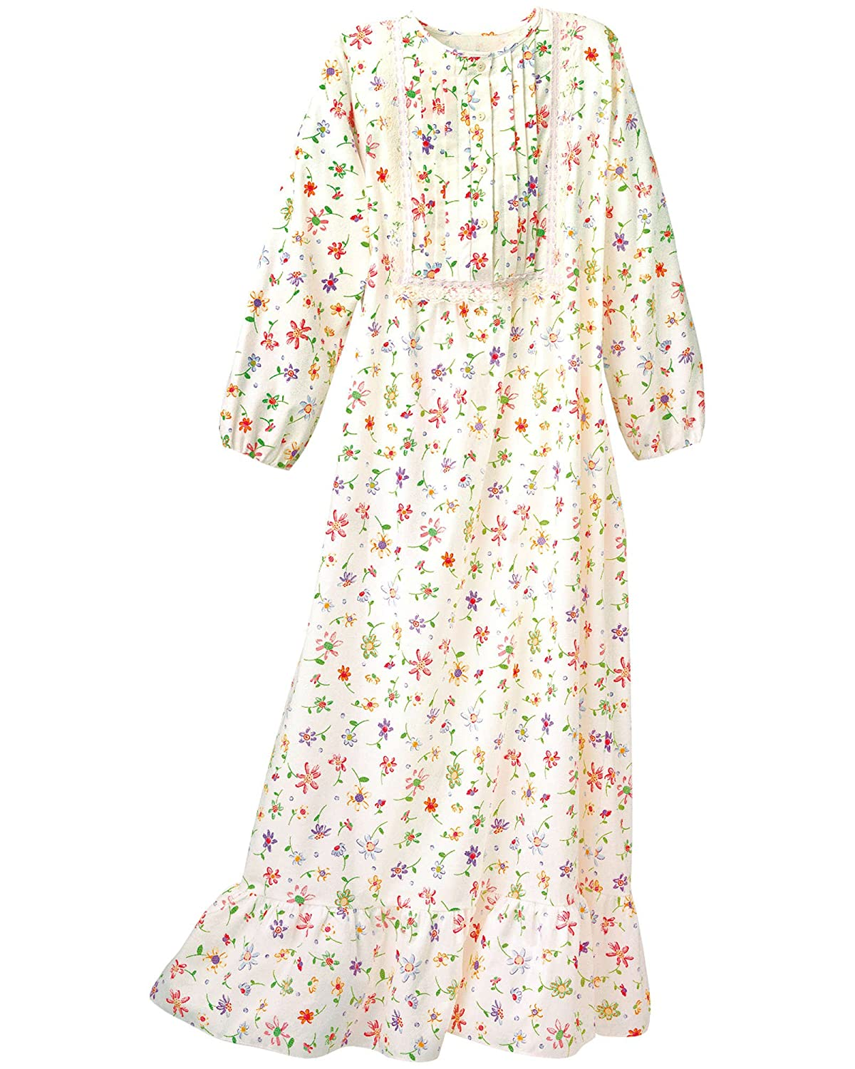 National Floral Flannel Nightgown 10147