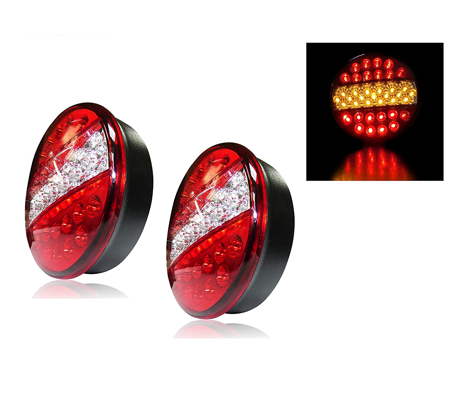 Set 2  x 12  V 24  V LED recupero Rear Tail lampade luci camion camion cassone ribaltabile NONE