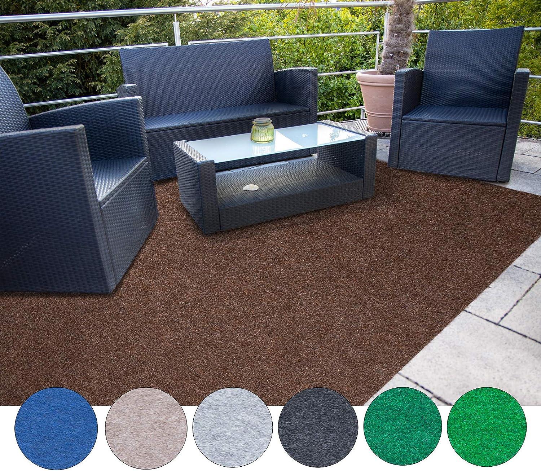 Kunstrasenteppich f/ür Terrasse Rasenteppich Farbwunder Pro Balkonteppich Balkon und Freizeit 50 x 50 cm, Grau Erh/ältlich in 7 Farben