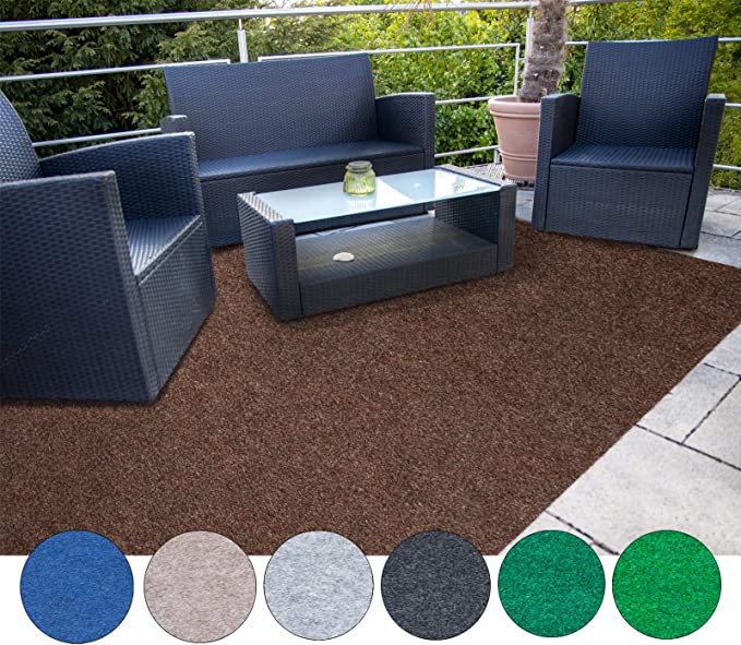 Kunstrasenteppich f/ür Terrasse Balkon und Freizeit 200 x 2000 cm, Grau Erh/ältlich in 7 Farben Rasenteppich Farbwunder Pro Balkonteppich