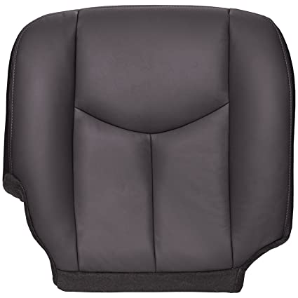 Chevy Silverado Replacement Seats >> The Seat Shop Passenger Bottom Replacement Seat Cover Very Dark Pewter Dark Gray Leather Compatible With 2003 2006 Chevrolet Silverado And Gmc