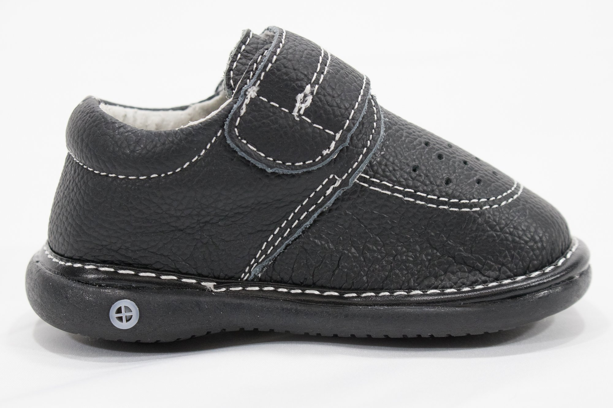 Anderson Baby Care LLC Squeaky Shoes for Toddler Boys (4T, Black Loafer) by Anderson Baby Care LLC (Image #5)
