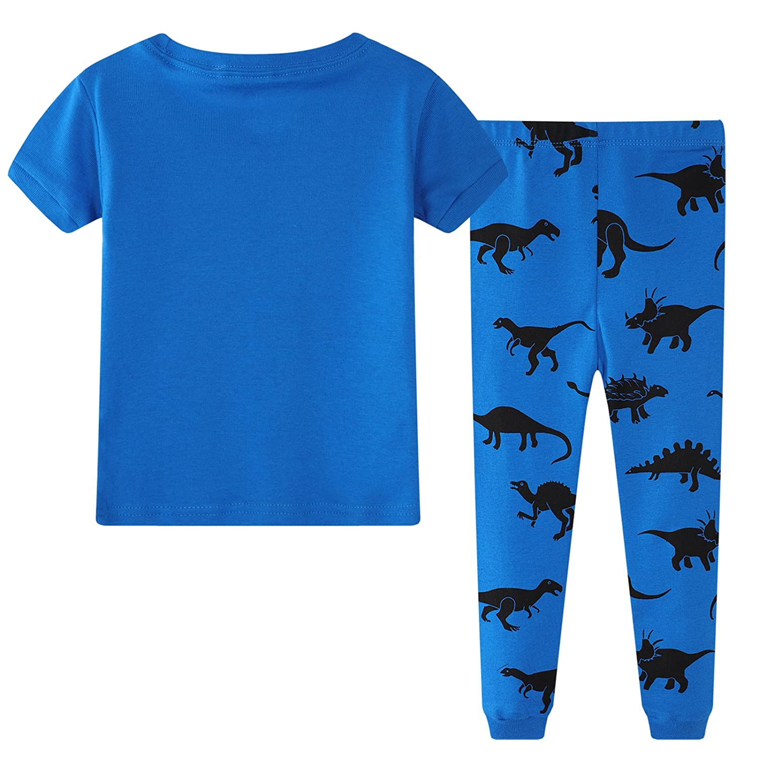 Little Boys Dinosaur Pajama Sets 100/% Cotton Cartoon Print