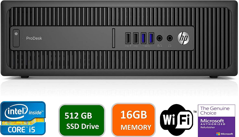 HP Business Desktop ProDesk 600 G2 Desktop Computer - Intel Core i5 (6th Gen) i5-6500 3.20 GHz - 16GB DDR4 SDRAM - 512GB SSD (Renewed)