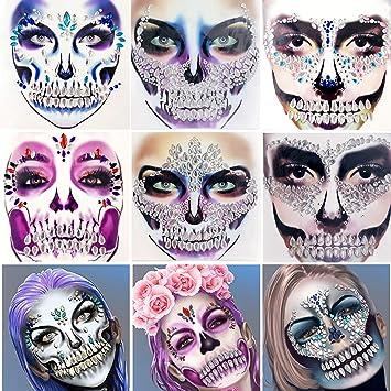 Iridescent Jeweled Rhinestone Gems Glitter Masquerade Festival Costume Eye Mask