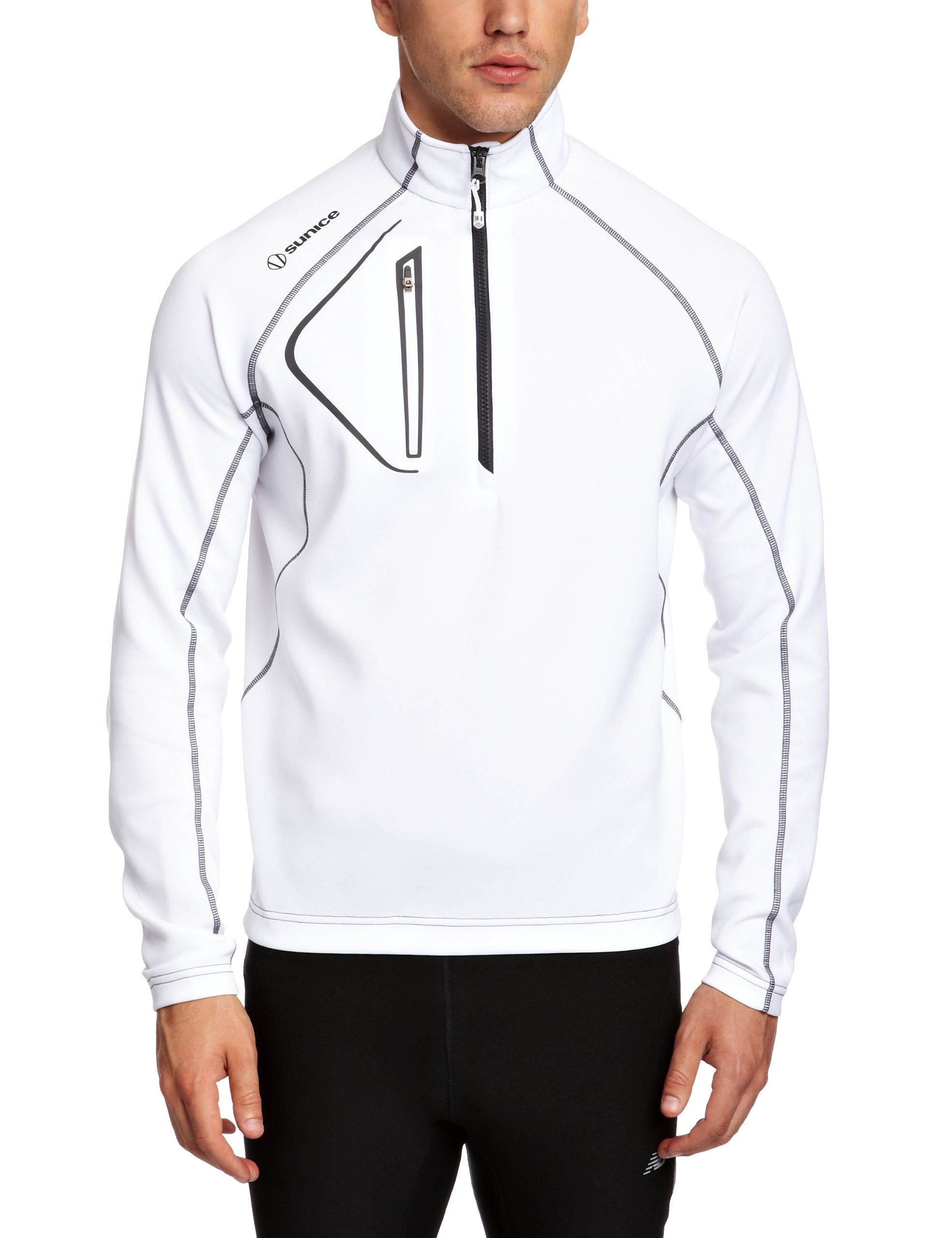 Sunice Men's Allendale Thermal Layer Jacket, White/Charcoal, XX-Large by Sunice