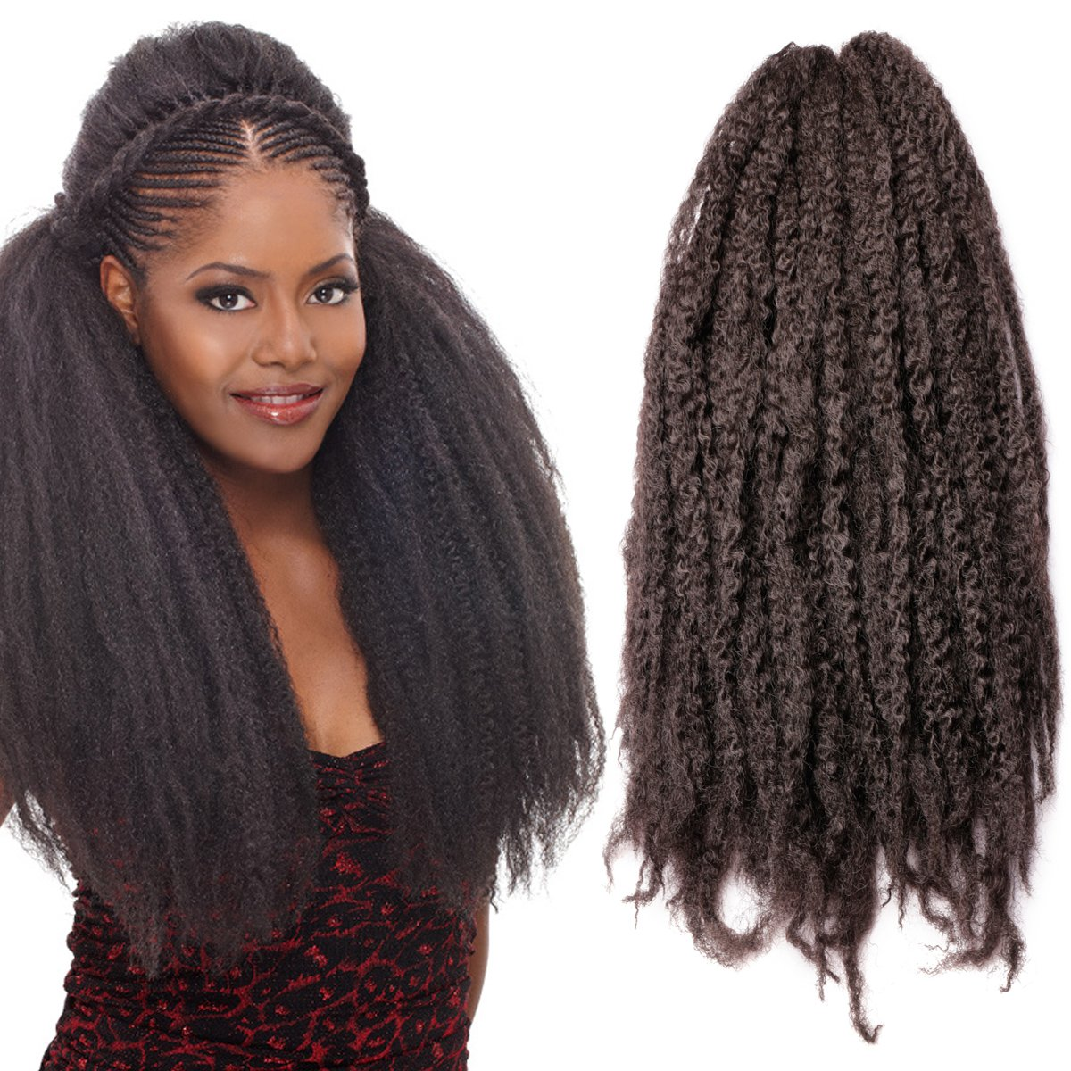 Amazon Pack Of 3 Afro Kinky Marley Braids Hair Extensions