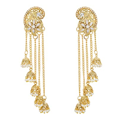 dp tassel earrings long by gold drop lovey com sleek amazon chain