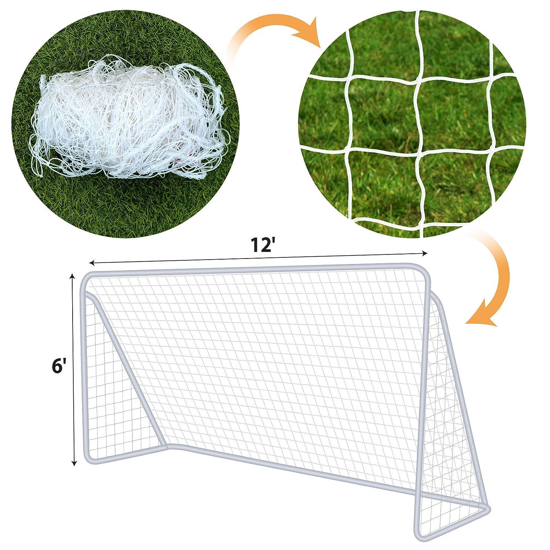 BenefitUSA Nets for Portable Football Soccer Door Goal 12' x 6' Soccer Net Nelon Sport Training PSD-3