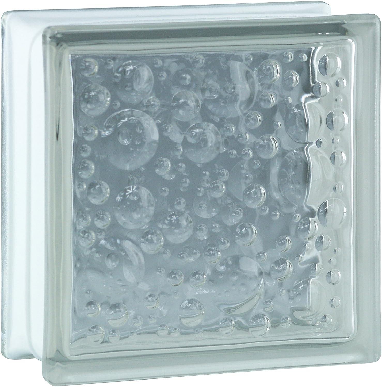 Bloques de vidrio mamparas de ducha JUEGO COMPLETO 156x195 cm – savona SUPER white brillante 19x19x8 cm – diferentes versiones disponibles: Amazon.es: Bricolaje y herramientas