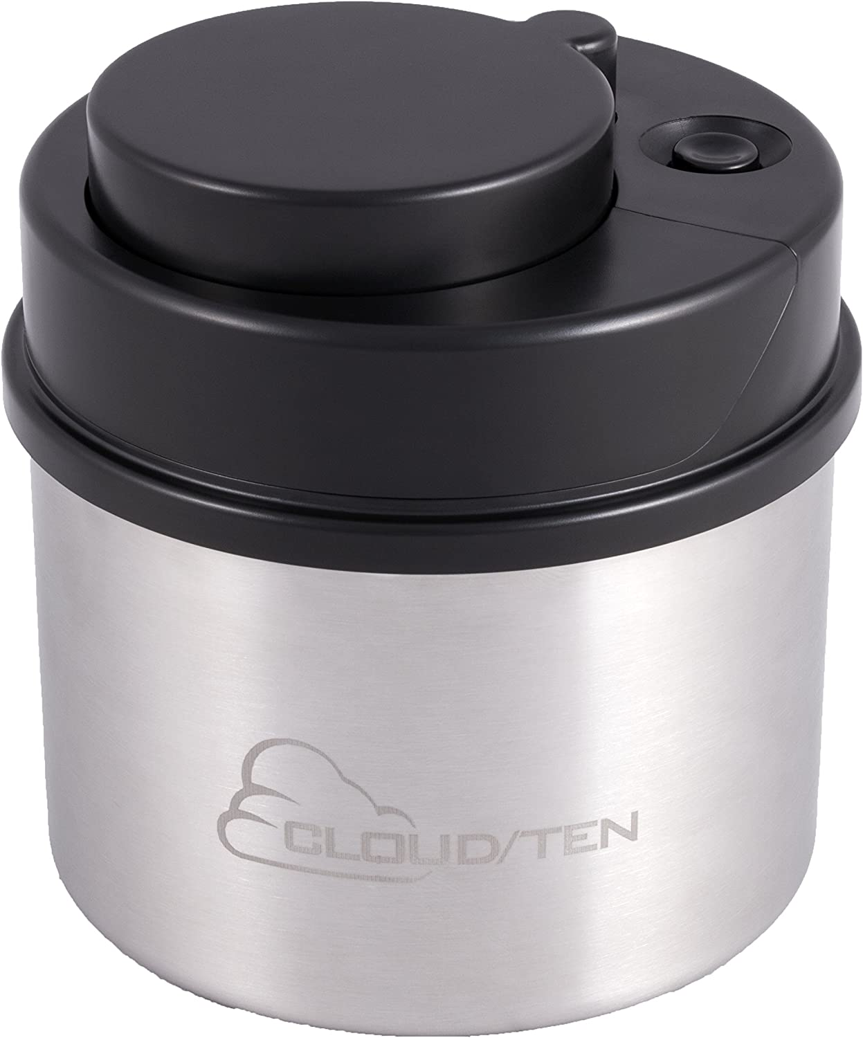 CLOUDTEN DankBank Herb Case Container with Airtight Vacuum Seal, Smell Proof Odor Resistant Herb Storage Jar Comfortably Keeps 2 Ounces of Herbs Fresh