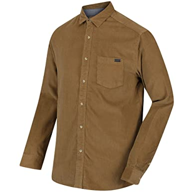 Regatta Mens Benton Coolweave Button Down Long Sleeve Casual Shirt