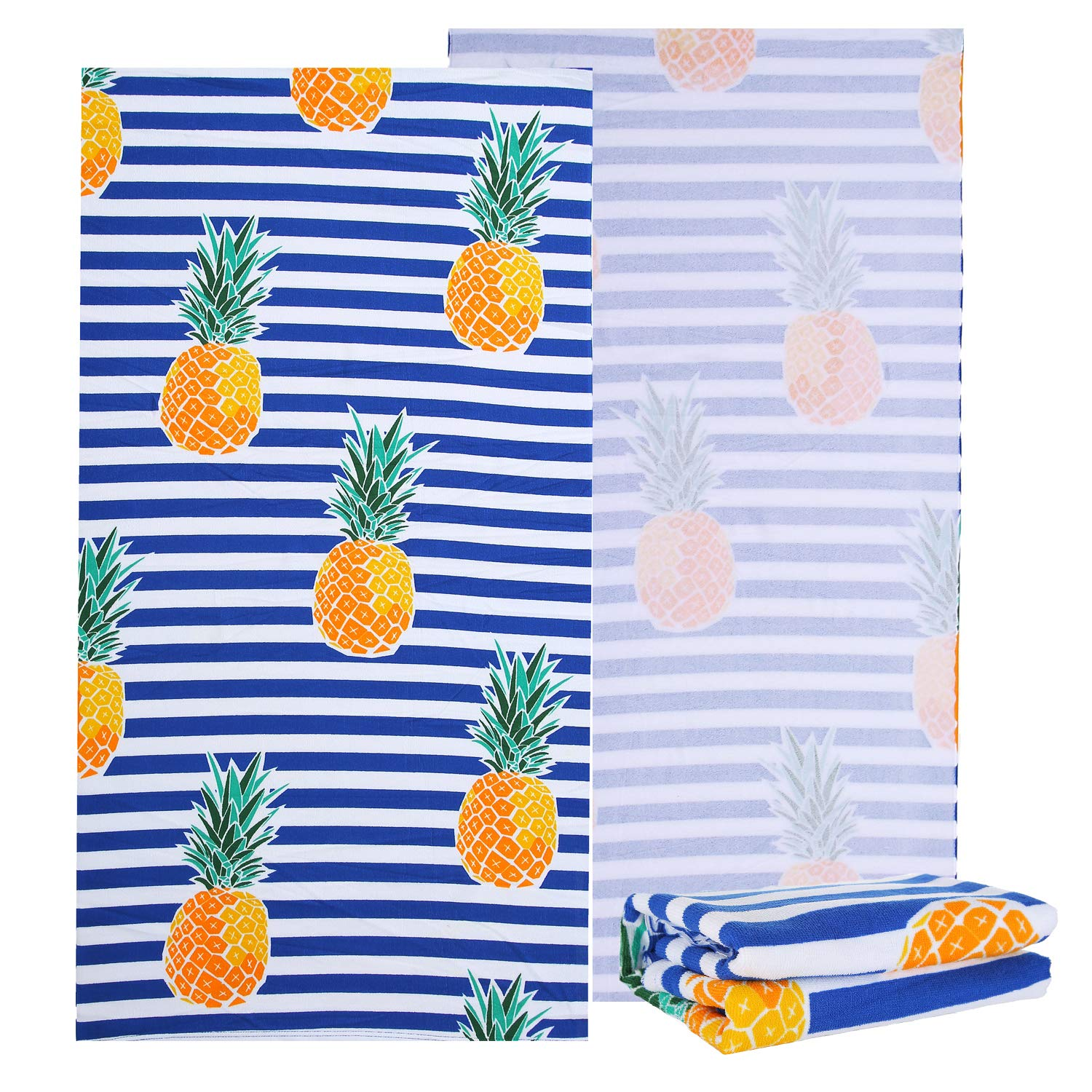 Sharemily home Microfiber Beach Towels for Travel Tropical thick beach towels