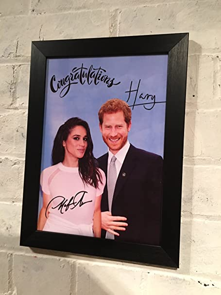 Prince Harry & Meghan Markle framed commemorative photograph with ...