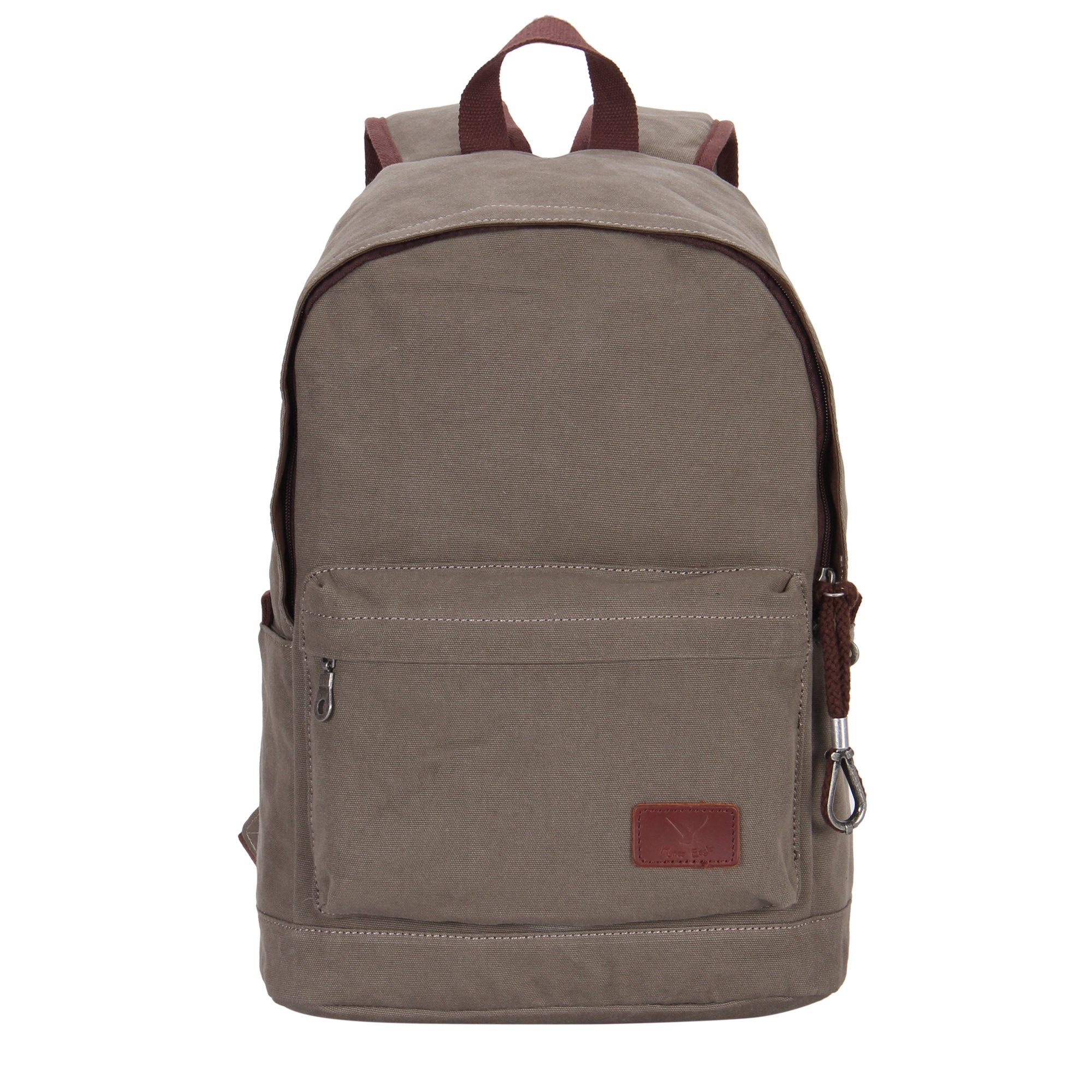 Hynes Eagle Unisex Casual Daypack Canvas School Bag Travel Backpack 23 Liters Army Green