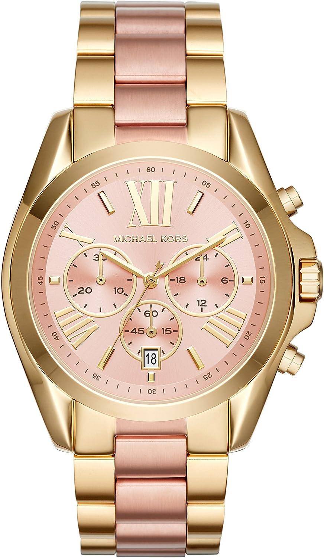 Michael Kors Bradshaw Reloj cronógrafo para mujer de 43 mm