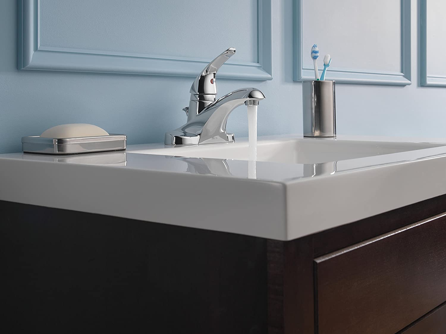 Delta Foundations B510LF Single Handle Centerset Lavatory Faucet