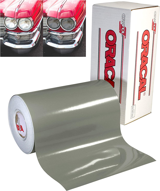 "16/""x 48/"" Tint Vinyl Medium Shade Smoke Film Sheet Car Headlight Protector Good"
