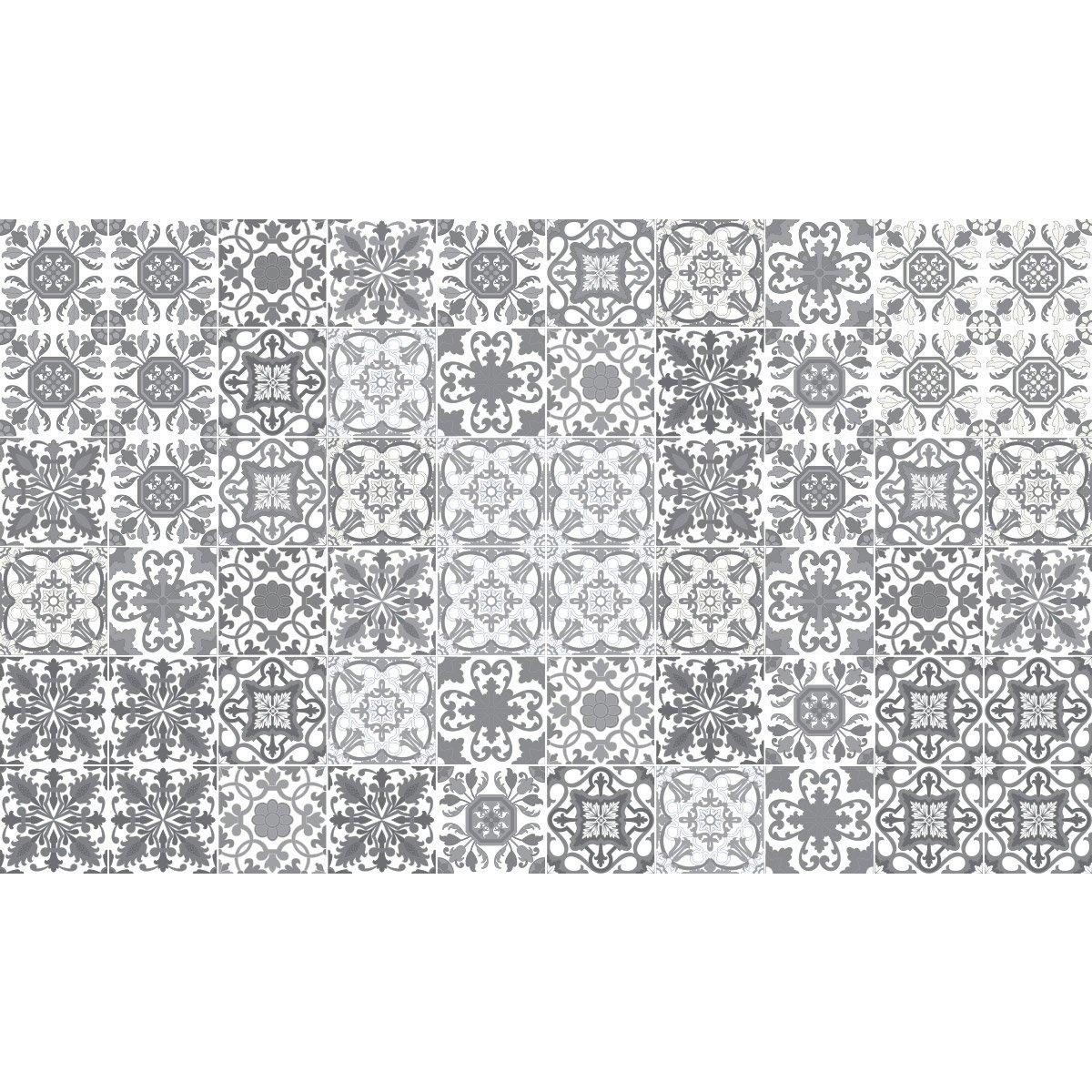 Stickers adh/ésifs carrelages muraux azulejos 15 x 15 cm 60 pi/èces