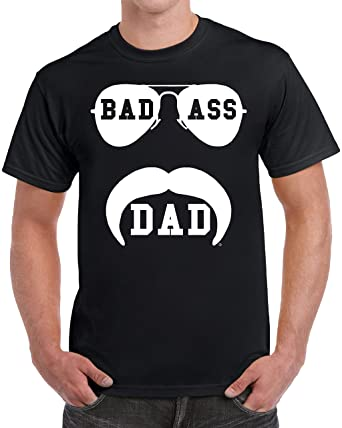 b23a40689 Amazon.com: tees geek Bad Ass Dad Funny Gifts for Dad Birthday ...
