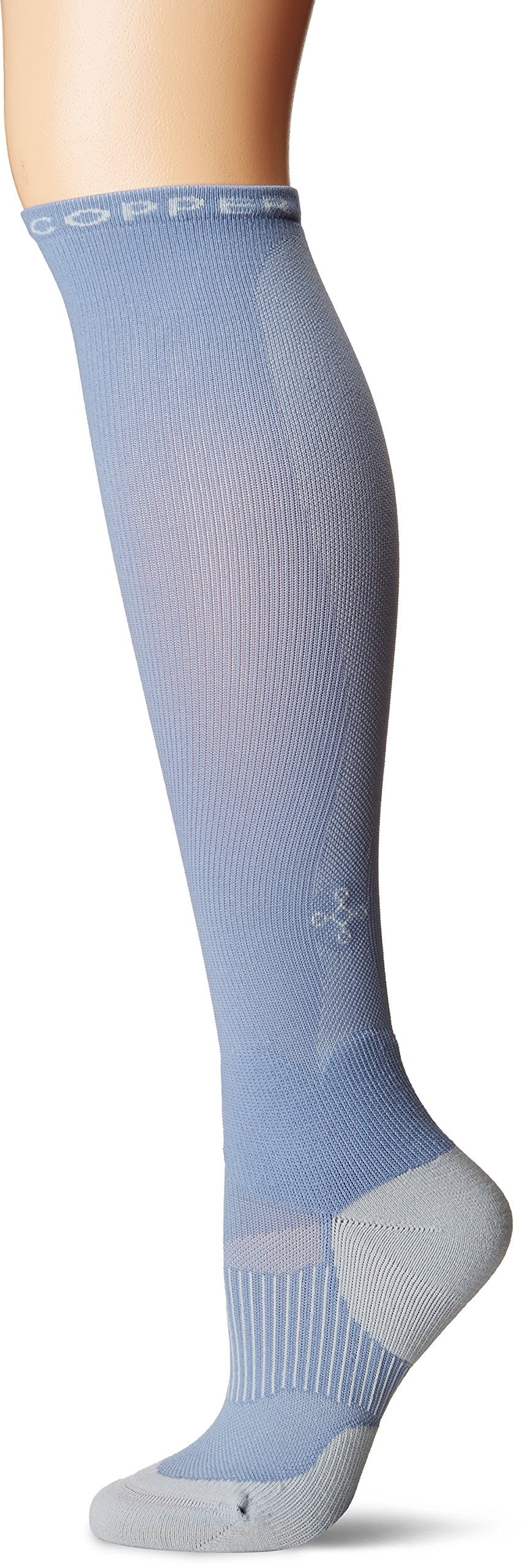 Tommie Copper Women's Performance Compression Over The Calf Socks, Faded Denim Grey, 4-6.5 by Tommie Copper