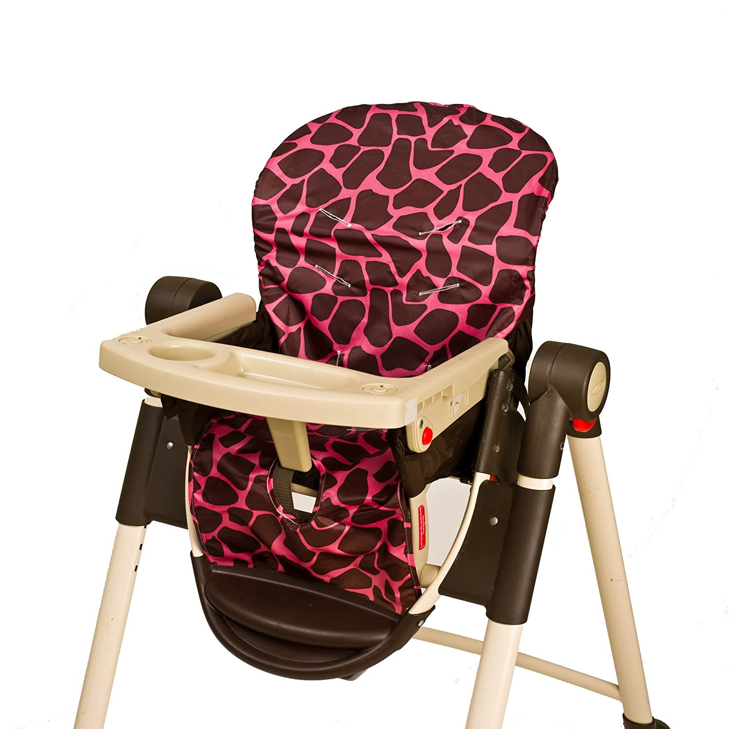 Graco high chair pink and brown - Amazon Com Wupzey Highchair Seat Cover Blue Stripe Childrens Highchair Covers Baby