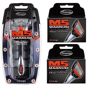 Amazon.com: Personna M5 Magnum 5 Maquinilla de afeitar con ...