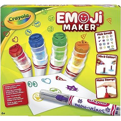 Crayola Emoji Stamp Maker, Marker Maker, Gift, Ages 6, 7, 8, 9, 10, 11, 12: Toys & Games