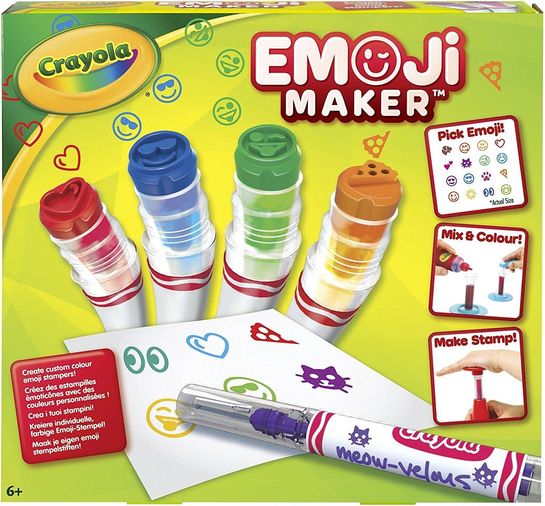 Crayola Emoji Stamp Maker, Marker Maker, Gift, Ages 6, 7, 8, 9, 10, 11, 12 Binney & Smith 74-7210