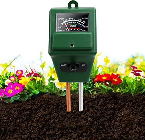 Lawn Farm Light and PH Acidity Tester,Soil Tester Kit for Home and Garden Plants iKKEGOL 3 in 1 Soil Moisture Meter No Battery Needed Herbs /& Gardening Tools