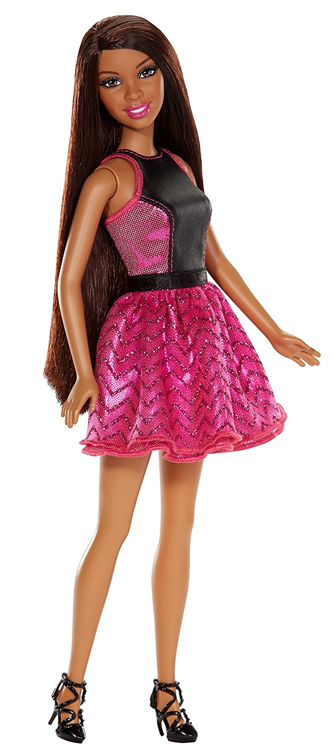 Discontinued by manufacturer Barbie Endless Curls African-American Doll Mattel BMC02