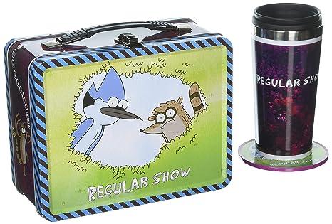 e0ddb7909591 Amazon.com  Regular Show Bif Bang Pow! Exclusive Tin Tote Gift Set ...