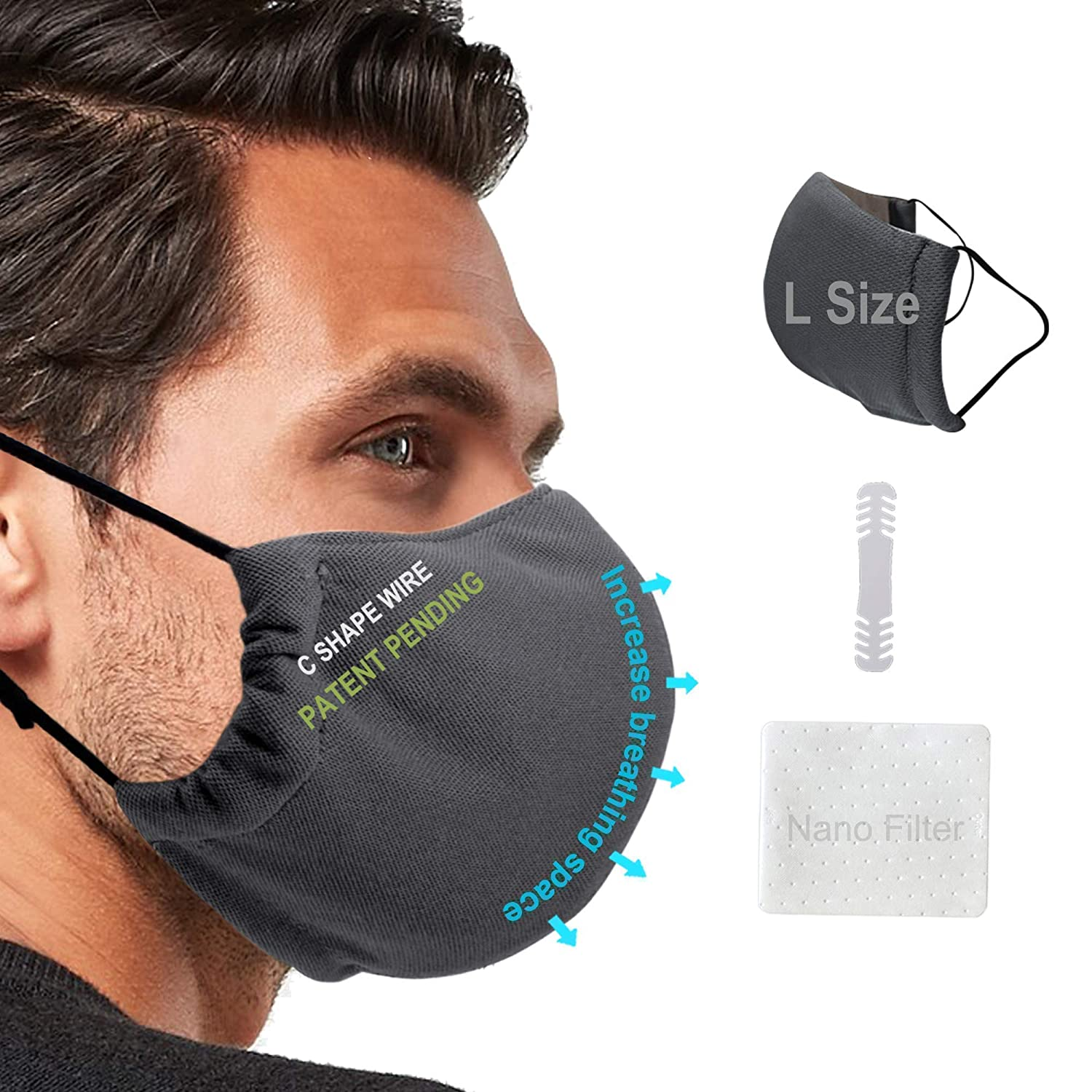 IN STOCK IN THE USA Reusable Breathing Sport Mask with 2 filters