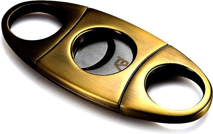Alaska Bear - Cortador de Cigarro de Bronce Antiguo Guillotina Doble Corte en Bolsa de Regalo