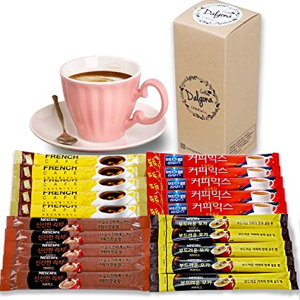 Amazon Com Home Cafe 3 In 1 Instant Coffee Variety Sample Packets With Gift Box Set Camping Essentials Korean Nescafe Frenchcafe Instant Coffee Mix Combination 20 Sticks Grocery Gourmet Food