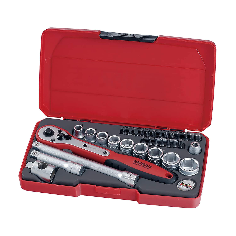 Teng Tools - 34 Piece 3/8 inch Drive Socket Set - T3834