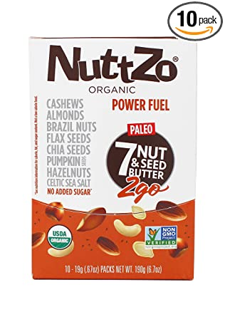 NuttZo Smooth Organic Power Fuel, 6.7 Ounce (Pack of 10)