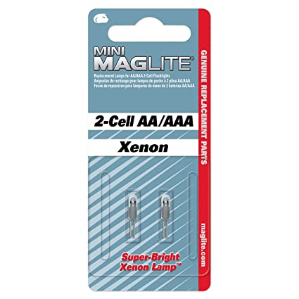 Maglite Replacement Lamps For 2 Cell AA Mini Flashlight Pack
