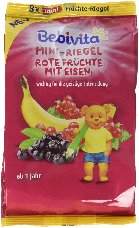 Bebivita Früchte-Riegel (mit Eisen Bärenstark rote), 7er Pack(7 x 8 x 8 g) 1362
