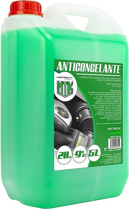 Motorkit MOT3538 Anticongelante, 5L, 20 %, Verde: Amazon.es: Coche ...