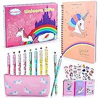 Unicornio Papeleria Regalo Niña 10 9 8 7 Años,Material Estuche Escolar Niña,Unicornio Cuaderno Bonitos e Notas Adhesivas…
