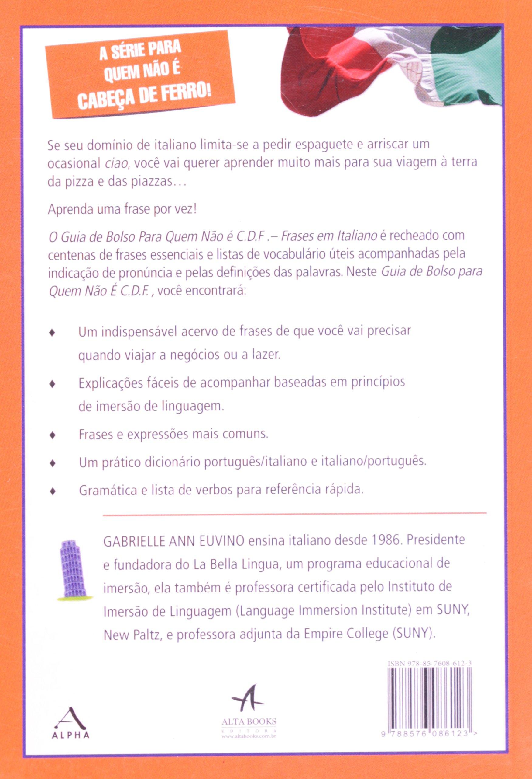 Frases Em Italiano Cdf Em Portuguese Do Brasil Amazon